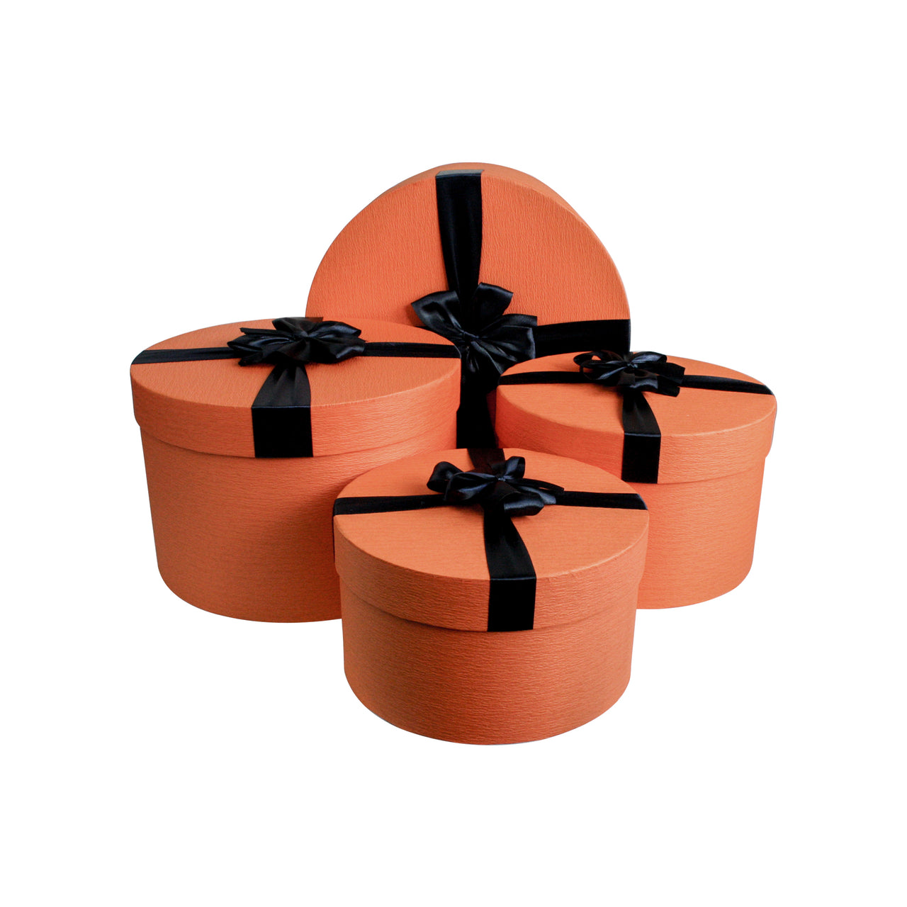 Orange and Dark Blue Cylindrical Gift Box - Set of 4