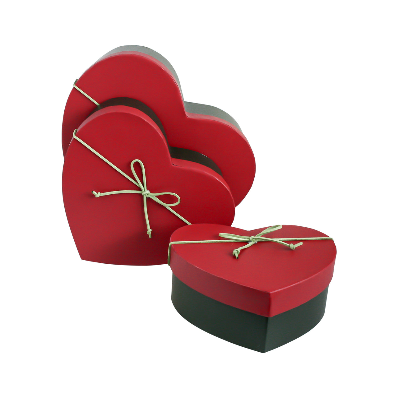Green Red Gift Box - Set Of 3