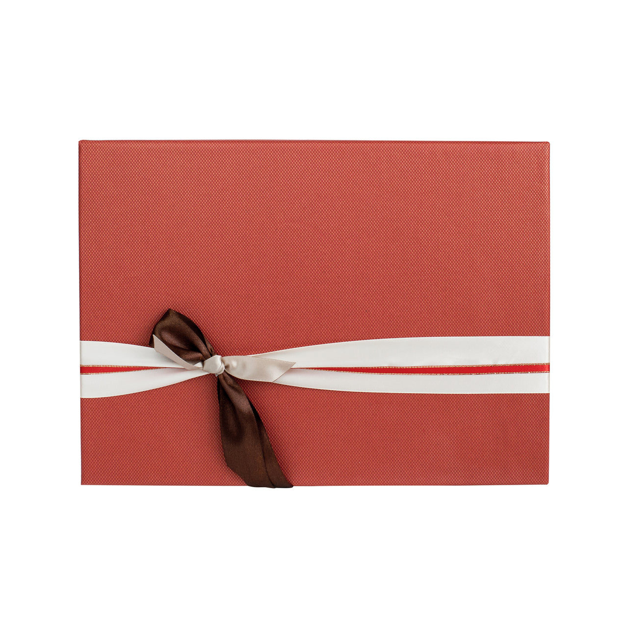 Red Cream Bow Gift Box - Small