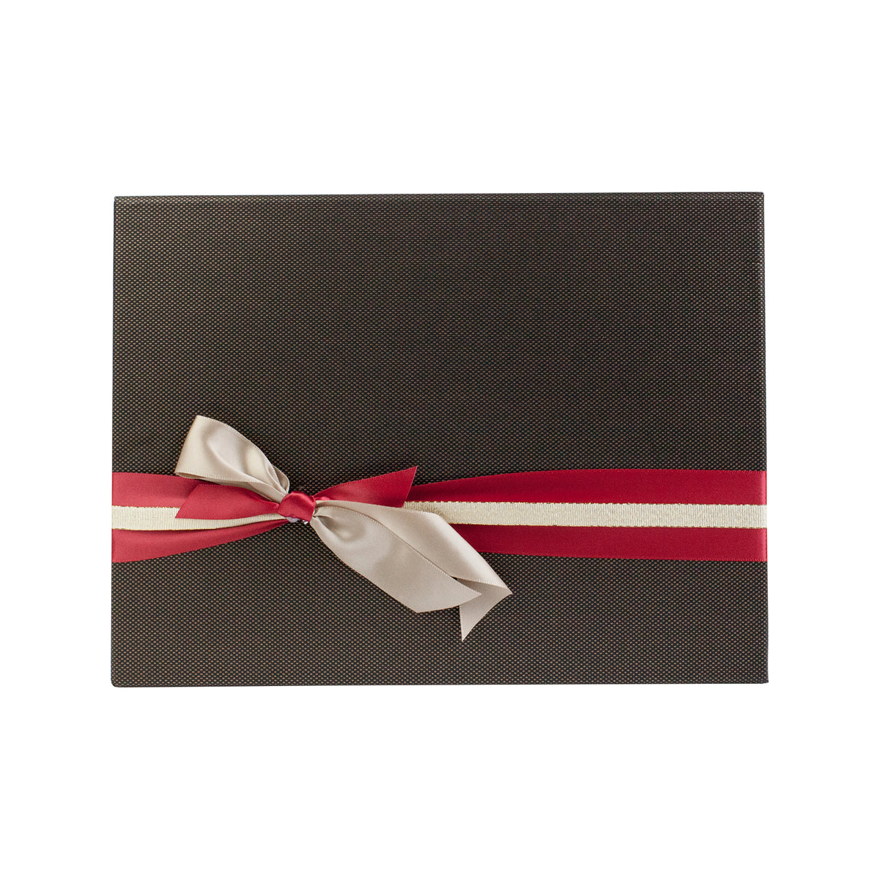 Brown Gold Bow Gift Box