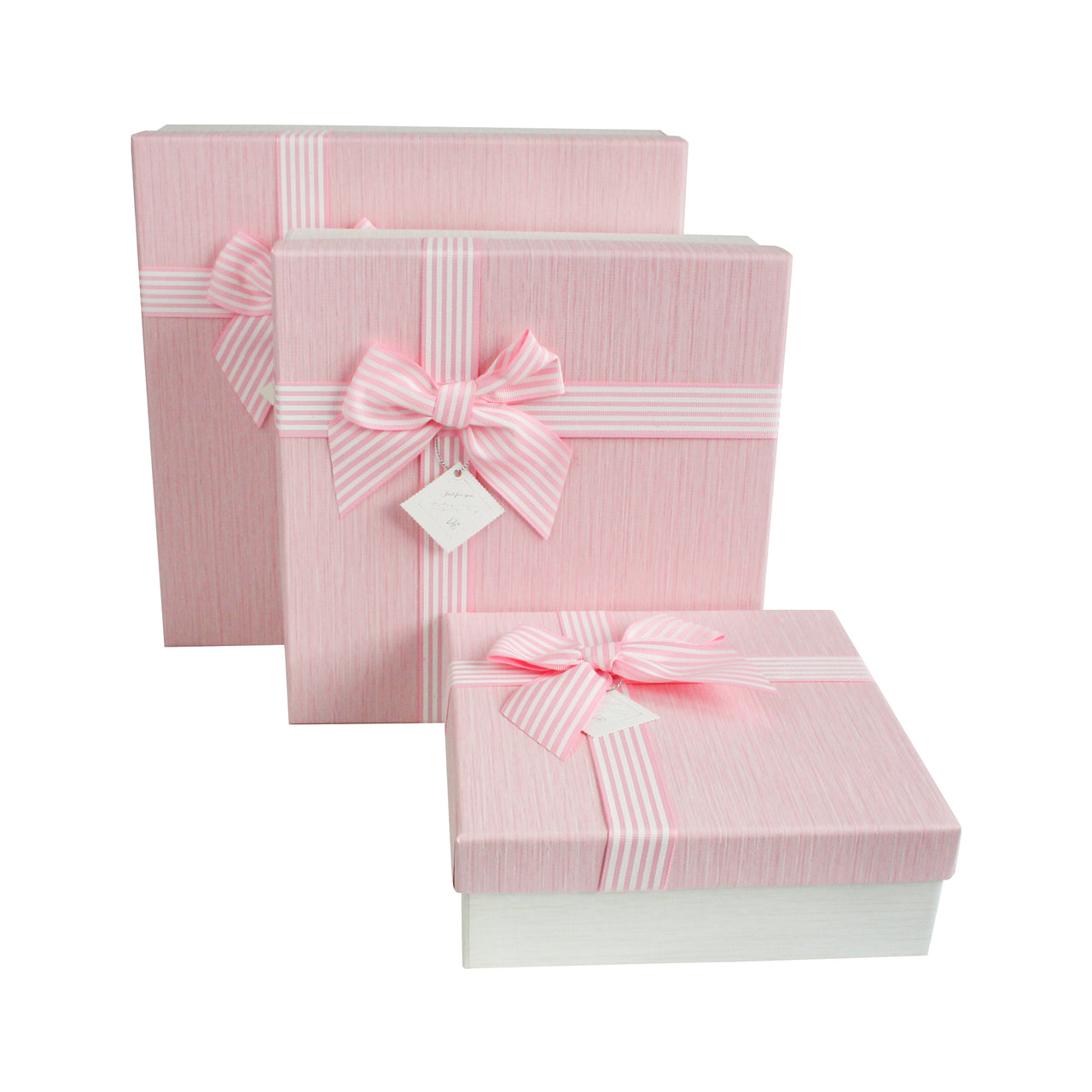 Cream Pink with Bow Gift Box - Set Of 3