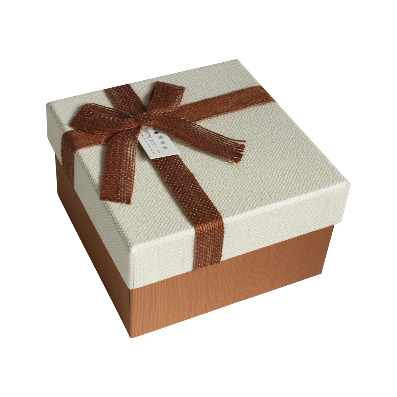 Small Brown Bow Gift Box