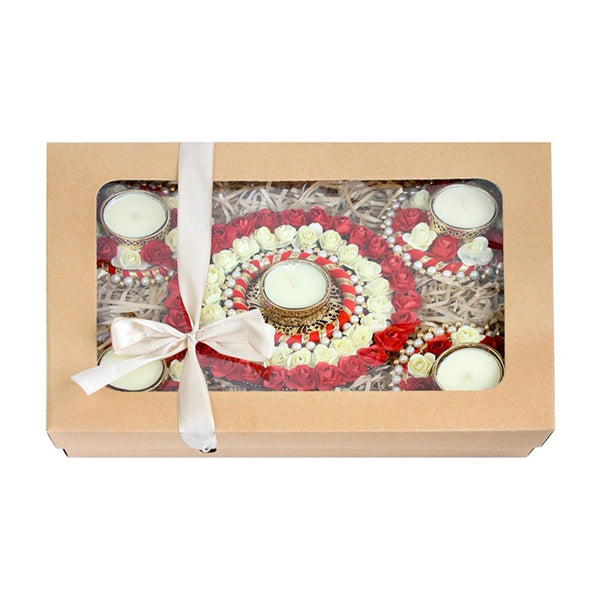 Set of 5 Tea Light Candle Holder Gift Box
