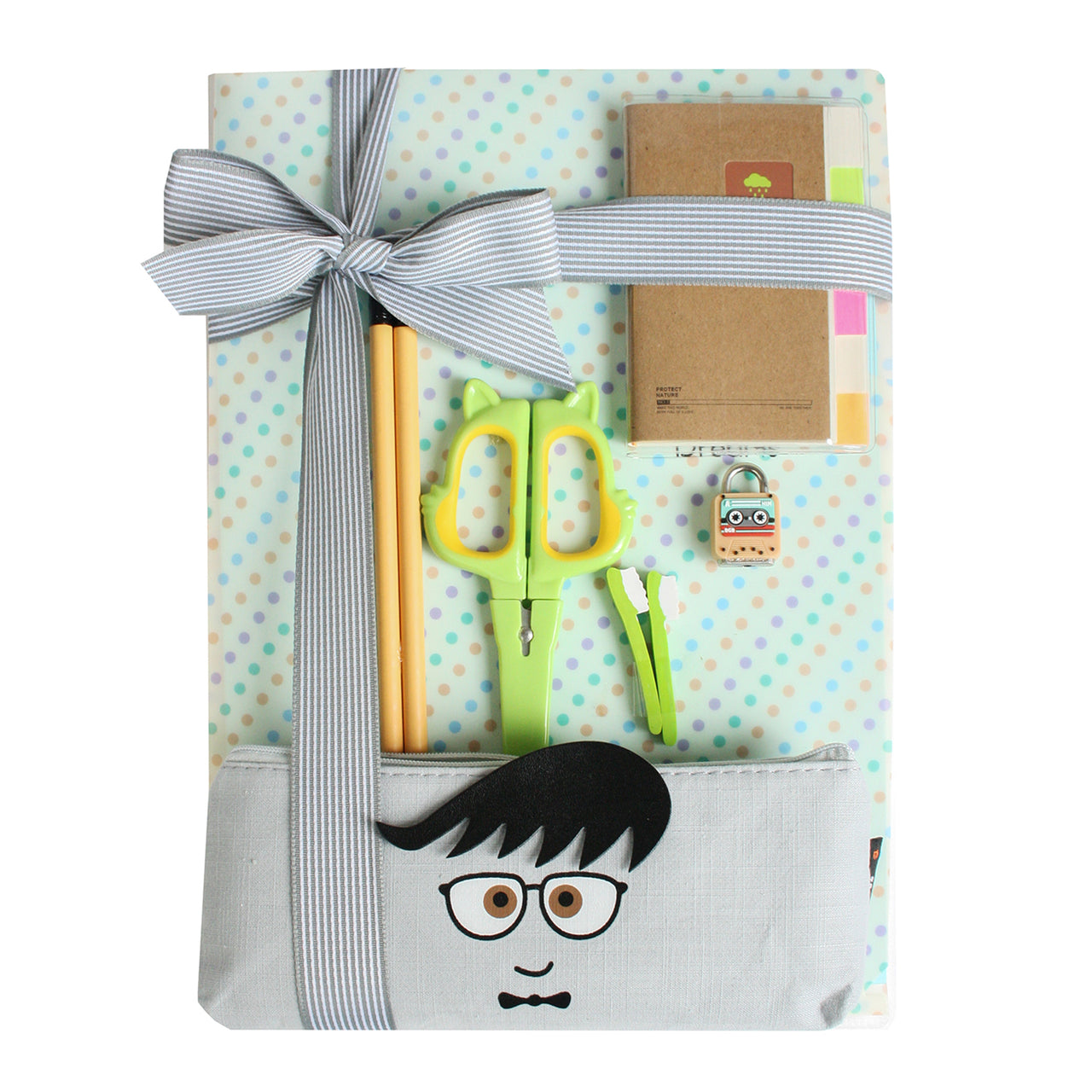 Cream Dots Folder Gift Set