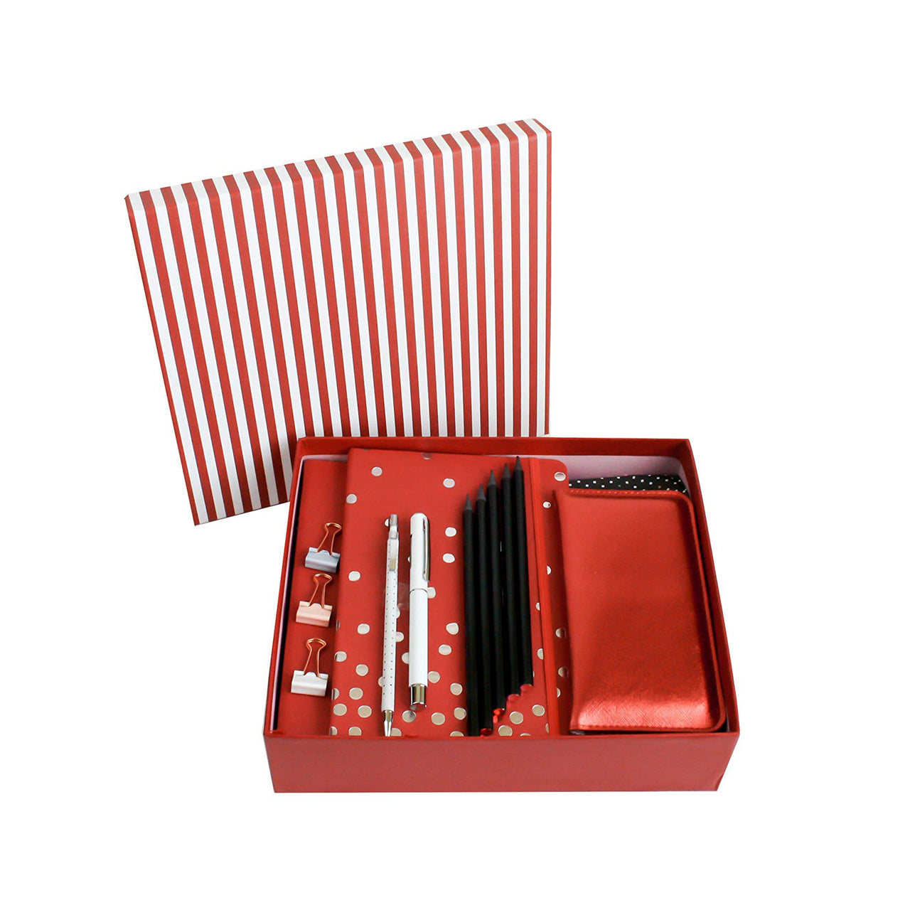 Red Striped Gift Set - Medium