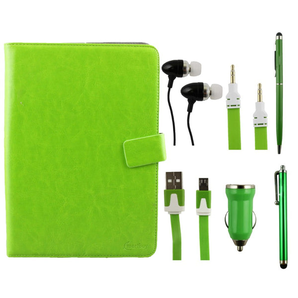 Green Tablet Accessory Bundle Pack