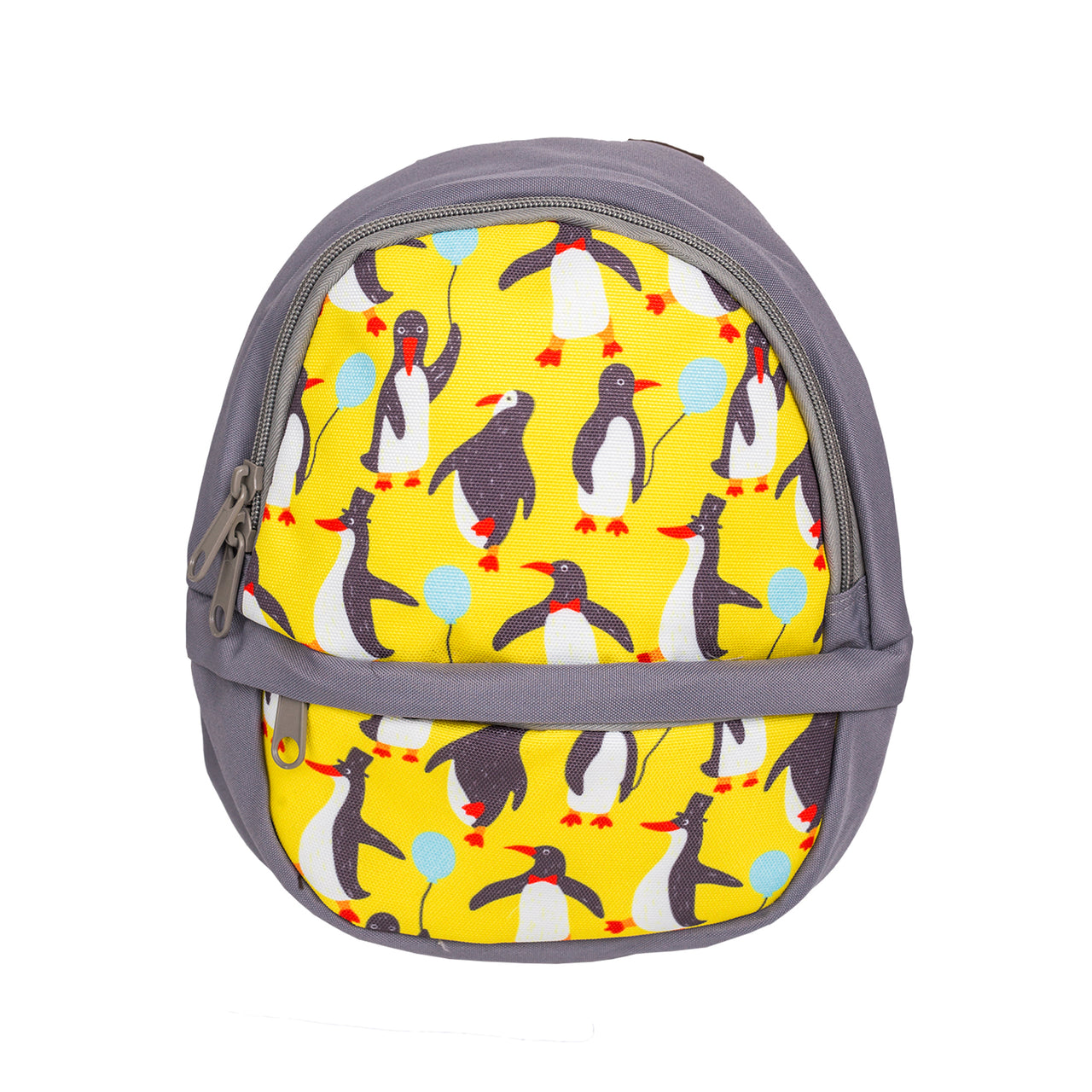 Printed Penguin Backpack - Grey