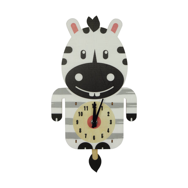 Animal Clock - Zebra - EMARTBUY
