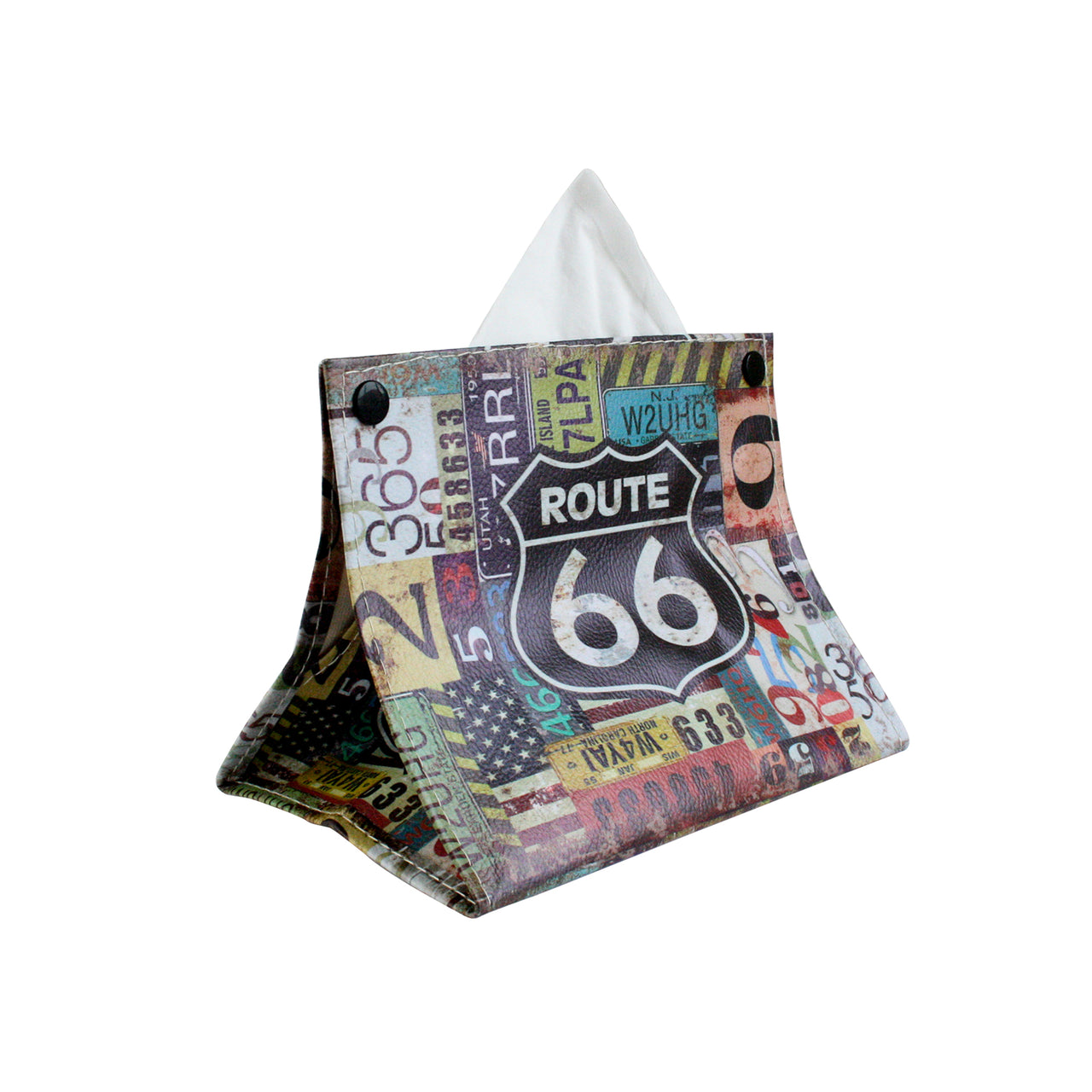 Folding Tissue Box - Route 66