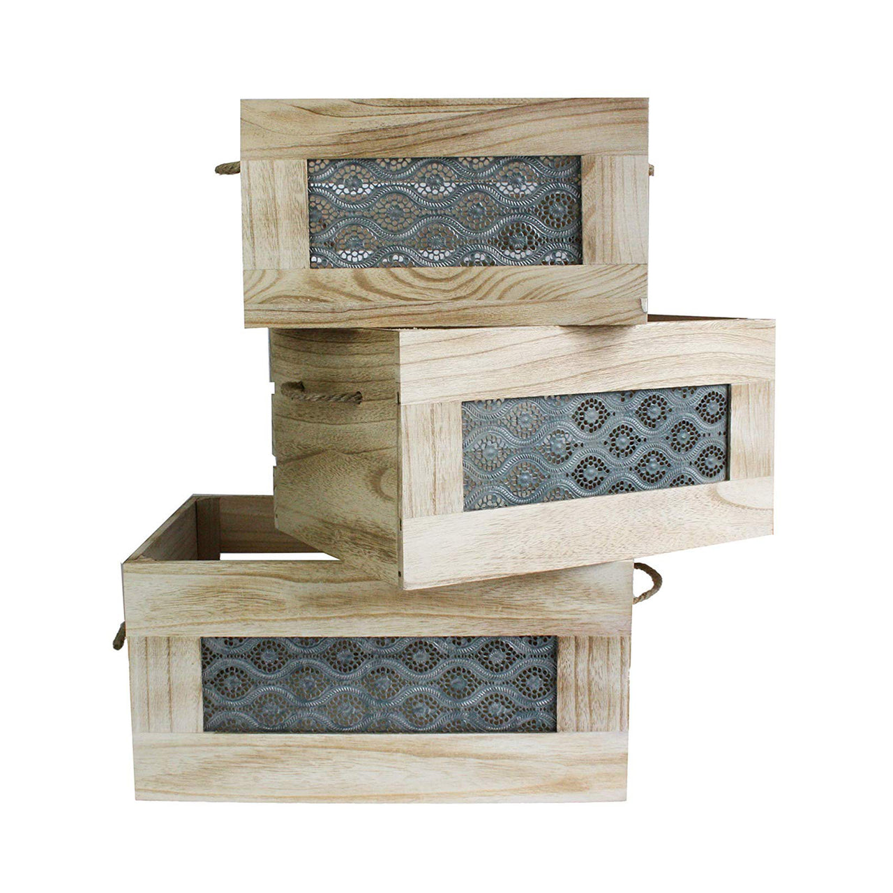 Wooden Storage Crate - Set of 3