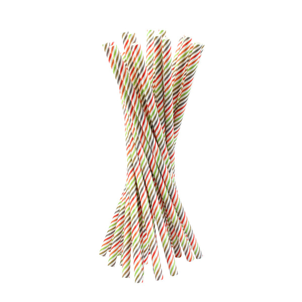 Multi Stripes Paper Straw