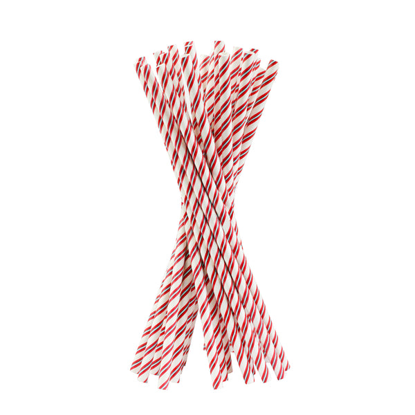 Red Stripes Paper Straw