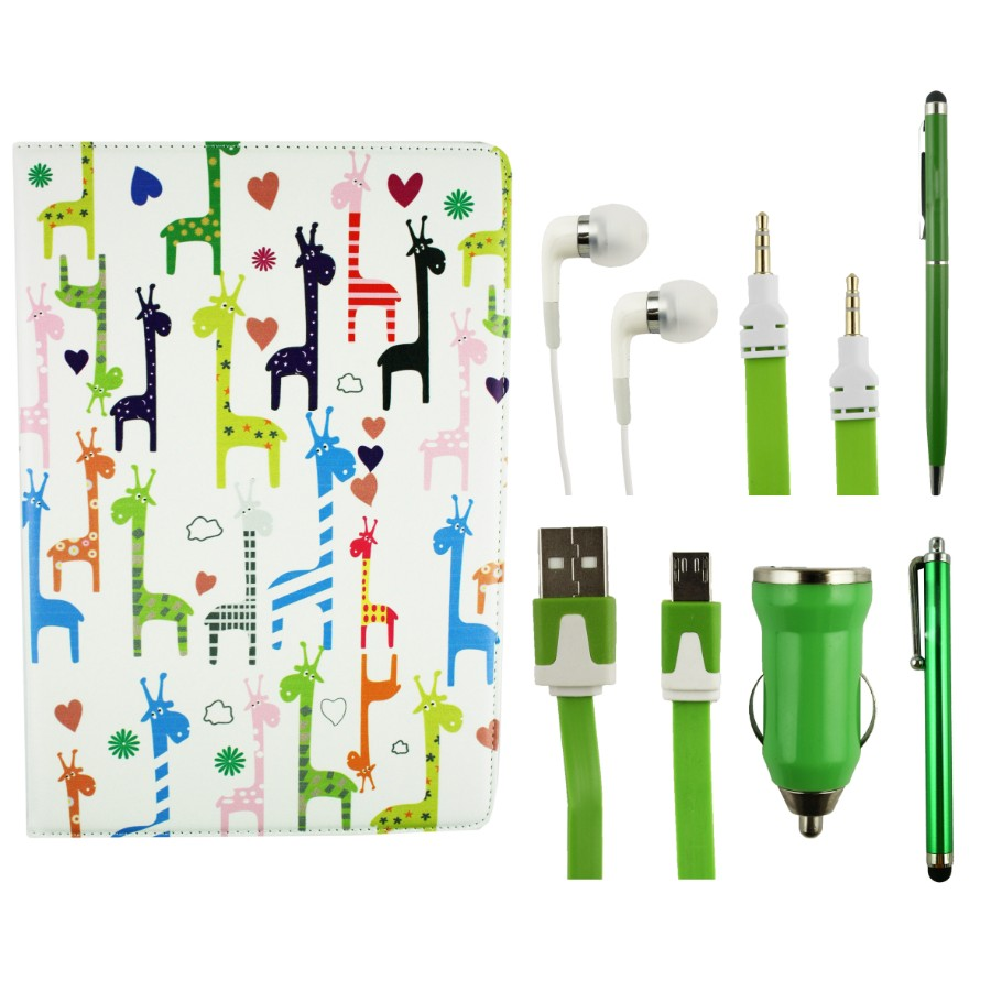 Tablet Accessory Bundle Pack - Giraffes