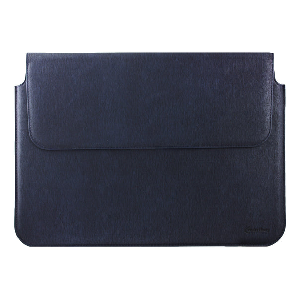 PU Leather Magnetic Folio - Navy Blue