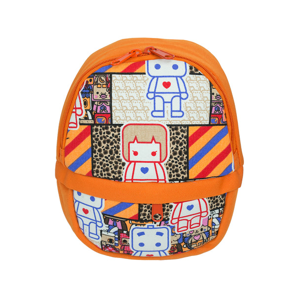 Printed Kids Backpack - Orange