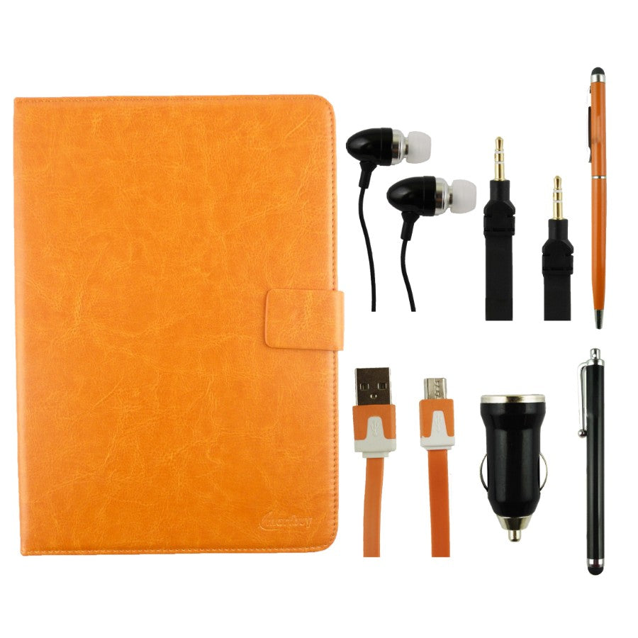 Orange Tablet Accessory Bundle Pack