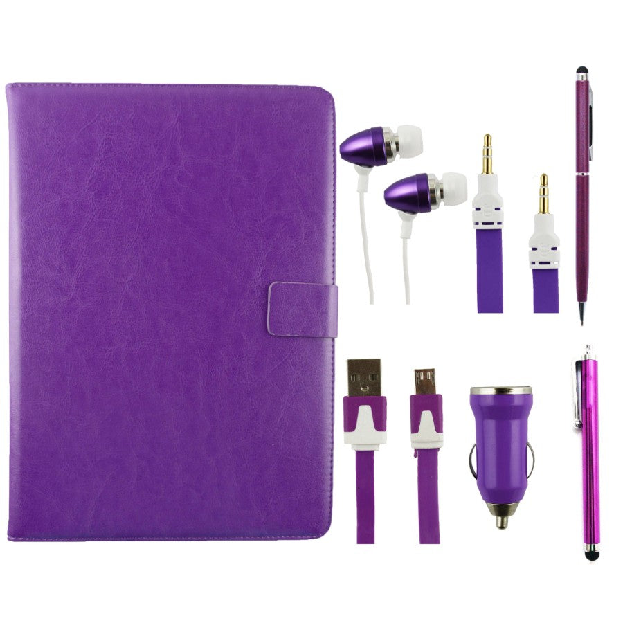 Purple Tablet Accessory Bundle Pack
