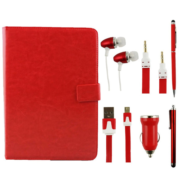 Red Tablet Accessory Bundle Pack