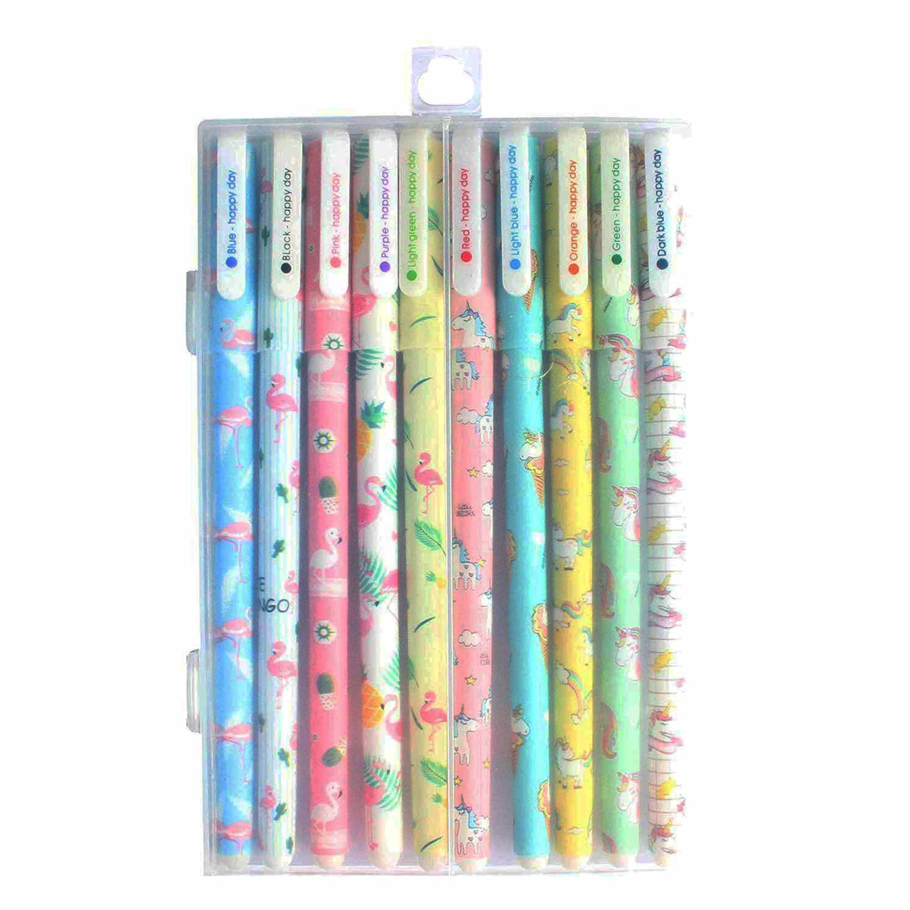 Assorted Unicorn Gel Pen - Pack of 10 - EMARTBUY
