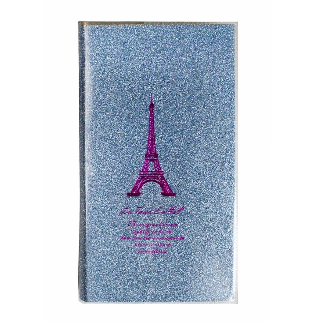 Purple Glitter Pocket Size Lined Notebook