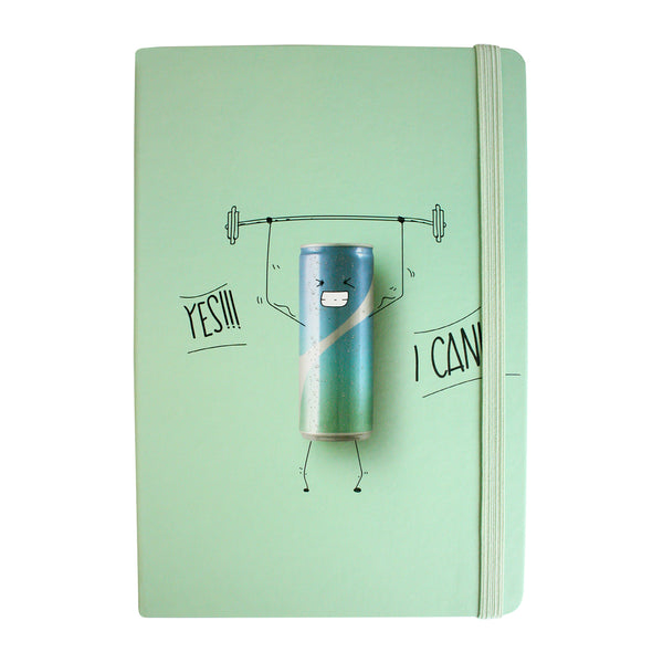 A5 Yes I Can Notebook - Green