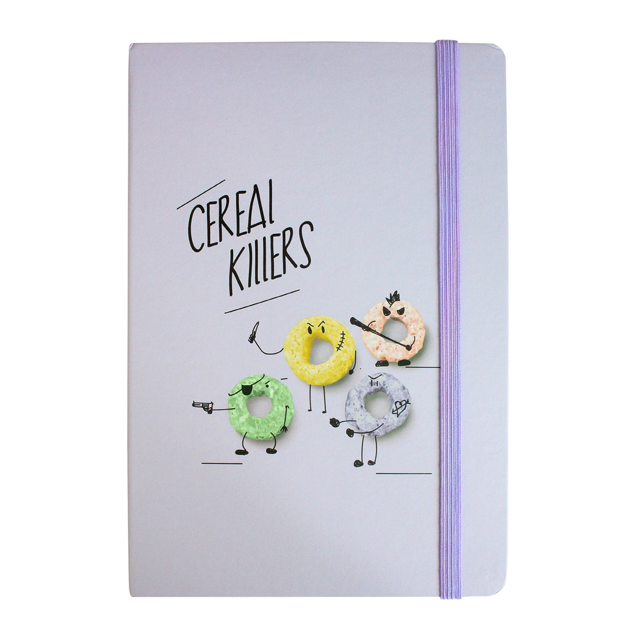 A5 Cereal Killers Notebook - Purple - EMARTBUY