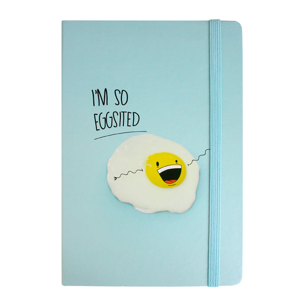 A5 I'm So Eggsited Notebook - Blue - EMARTBUY