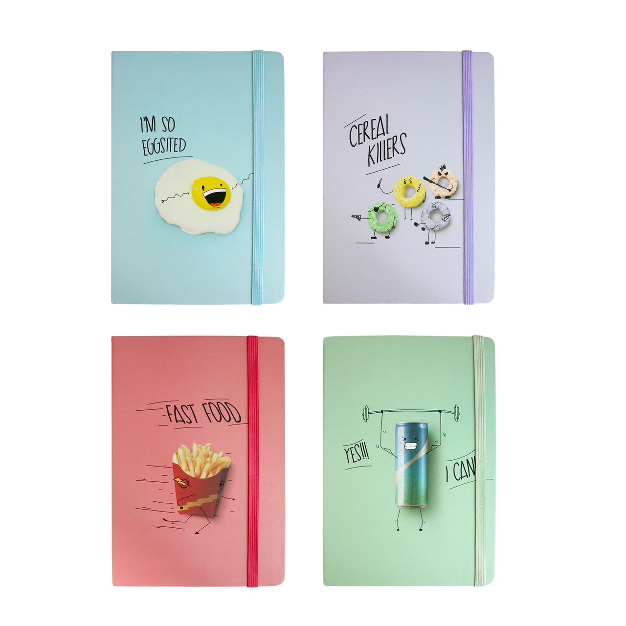 A5 Quotes Notebook - Set of 4 - EMARTBUY