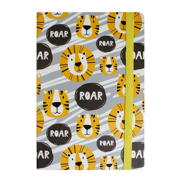 A5 Lion Notebook - Yellow - EMARTBUY