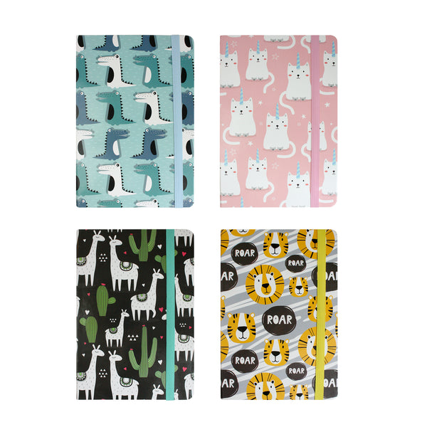 A5 Animal Notebook - Set of 4 - EMARTBUY