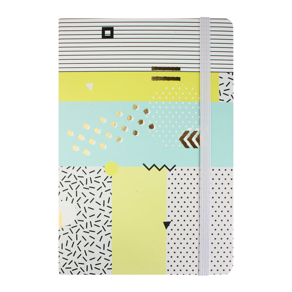 A5 Abstract Notebook - Blue/Green - EMARTBUY