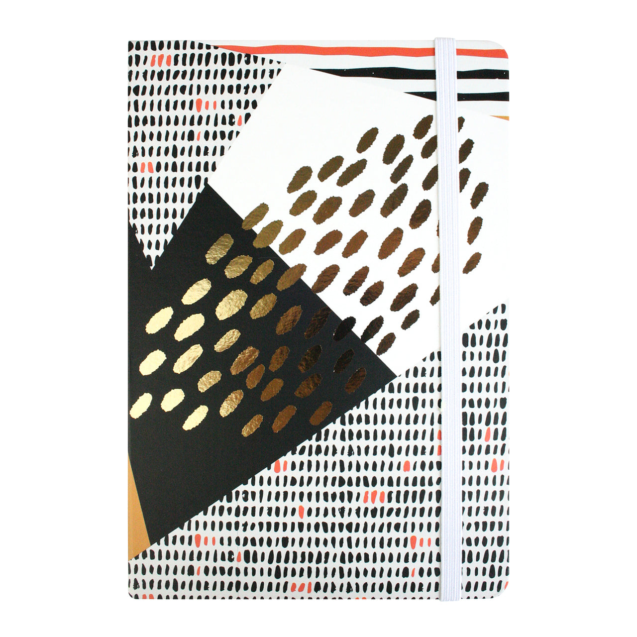 A5 Abstract Notebook - Black/Gold - EMARTBUY