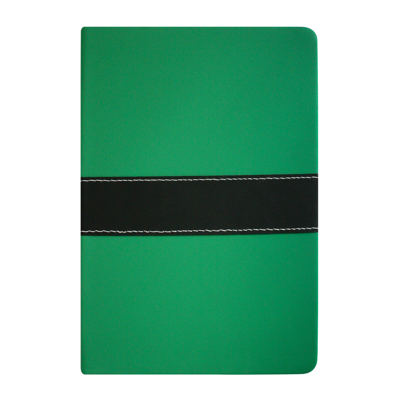A5 PU Leather Hardbound Notebook - Green - EMARTBUY