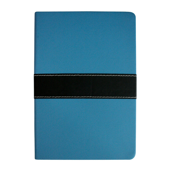 A5 PU Leather Hardbound Notebook - Blue - EMARTBUY