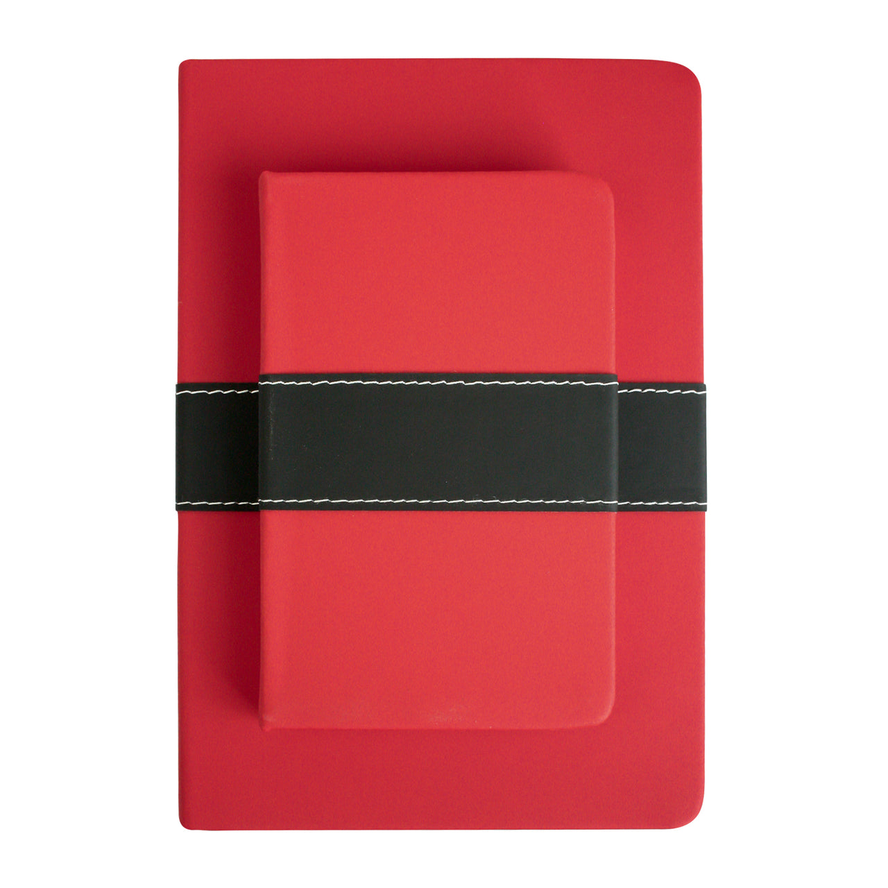 A5 & A6 PU Leather Hardbound Notebook - Red - EMARTBUY