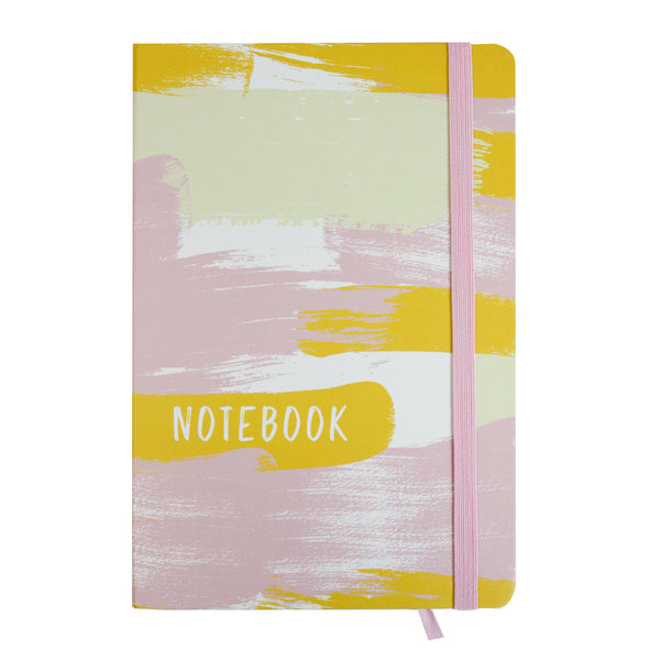 A5 Painted Notebook - Pink/Yellow - EMARTBUY
