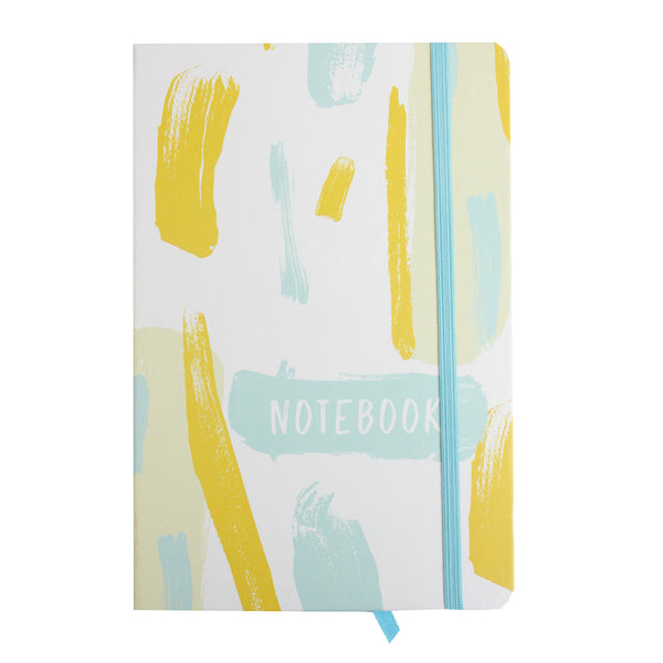 A5 Painted Notebook - White/Yellow - EMARTBUY