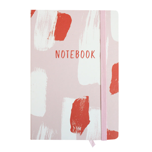A5 Painted Notebook - Pink/Red - EMARTBUY