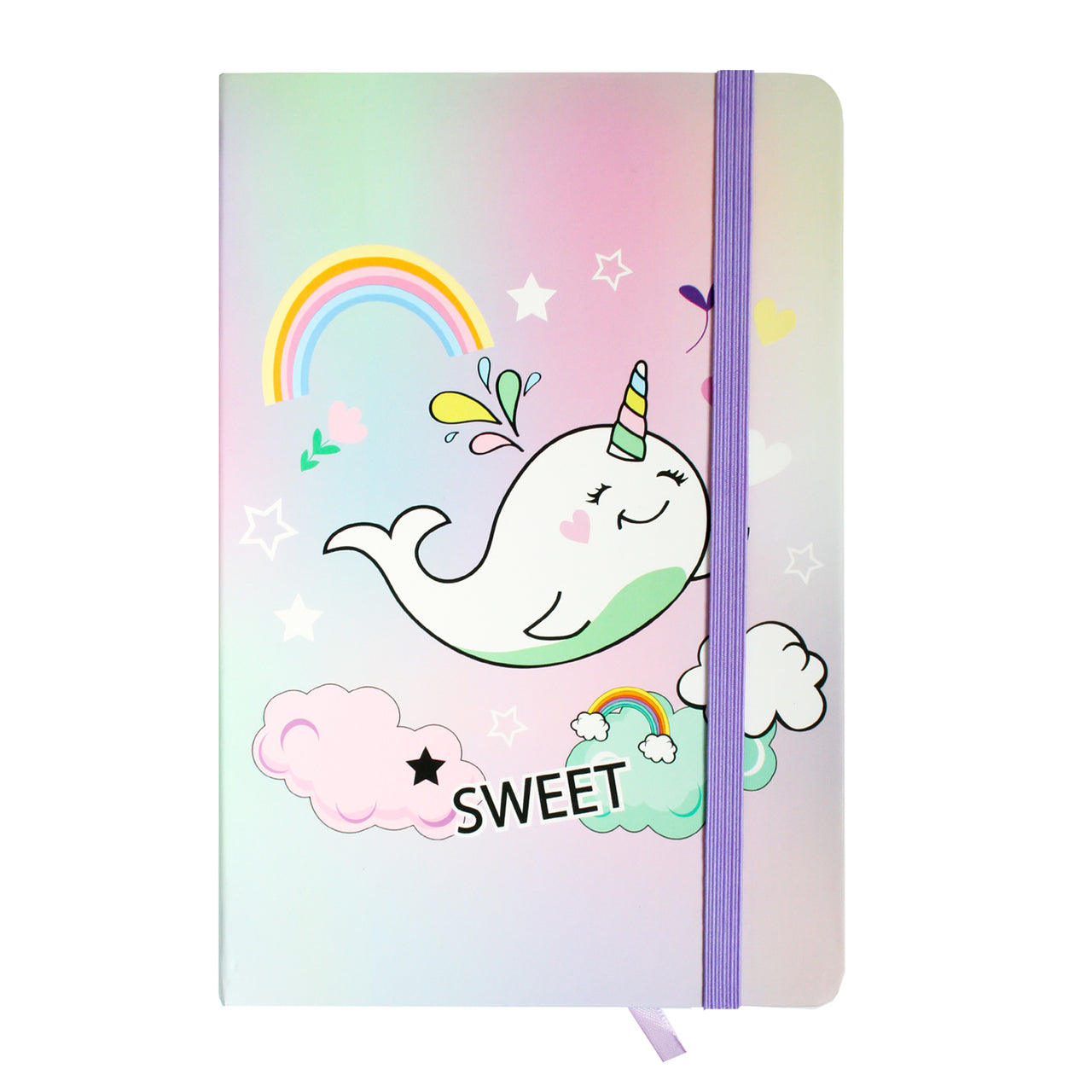 A5 Whale Notebook - Sweet - EMARTBUY