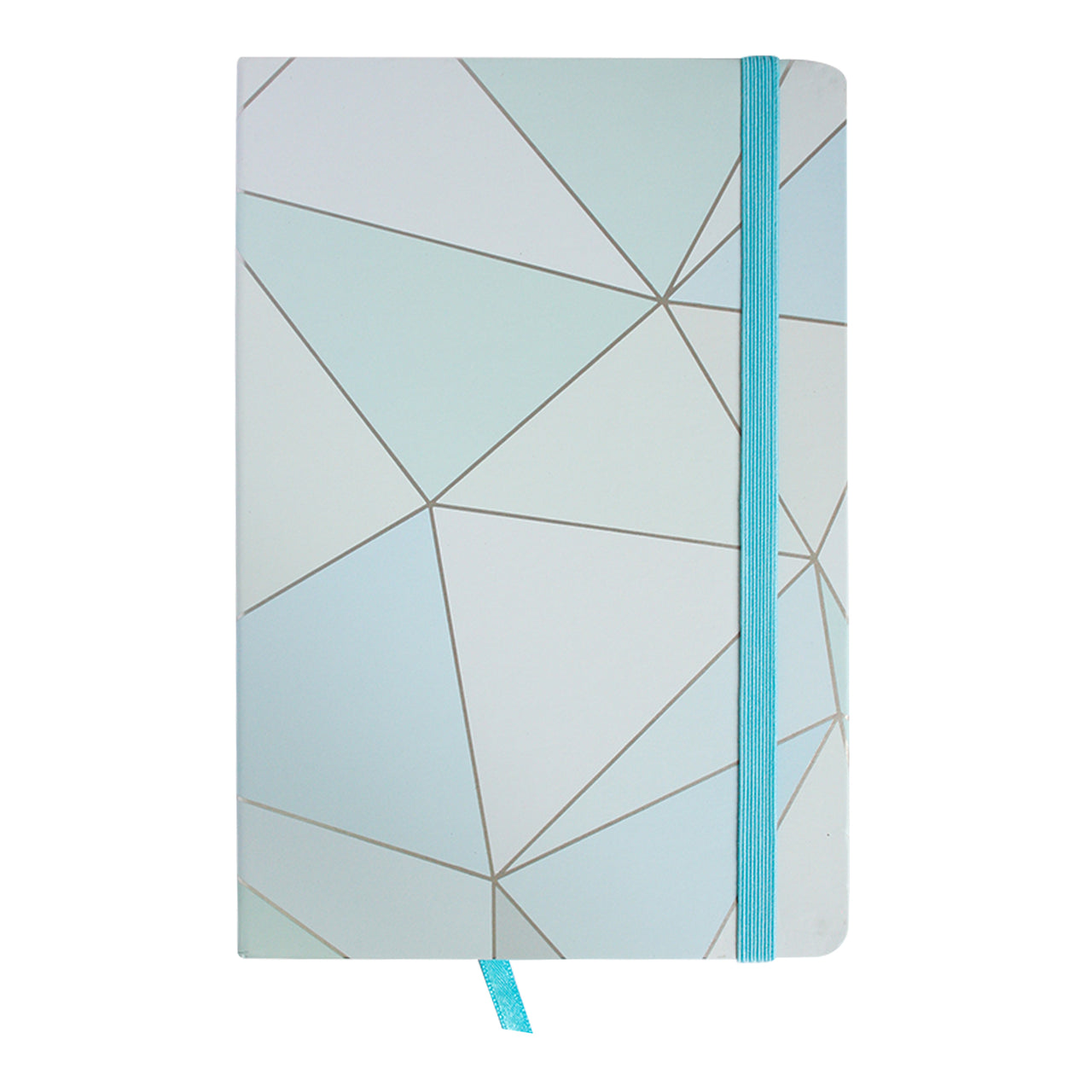 A5 Geometric Marble Notebook - Light Blue