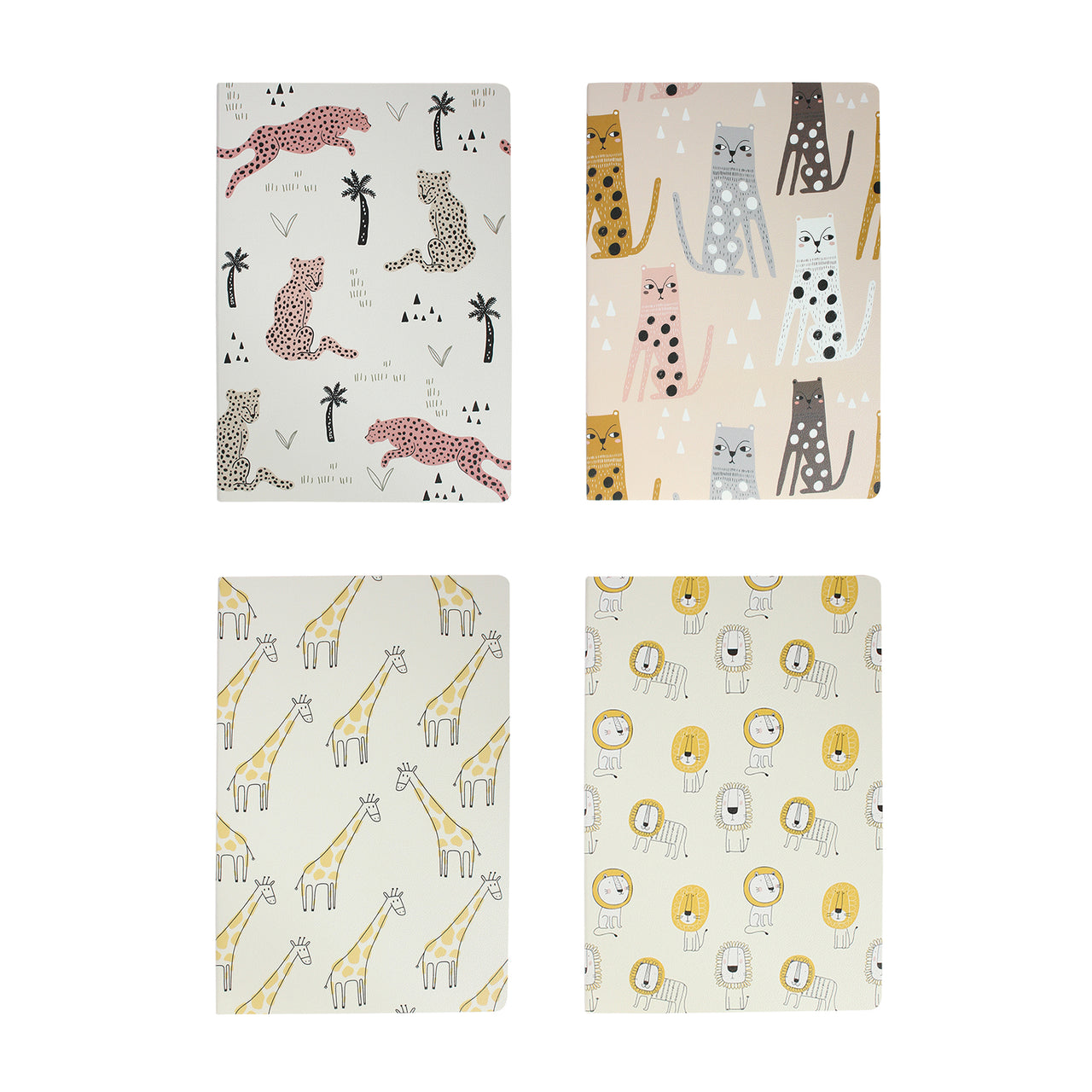 Animal Softcover Notebook - Set of 4