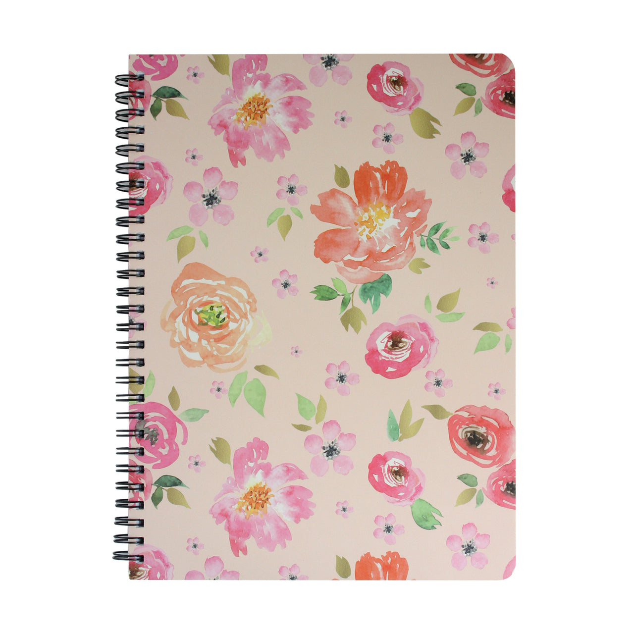 B5 Floral Notebook - Pink