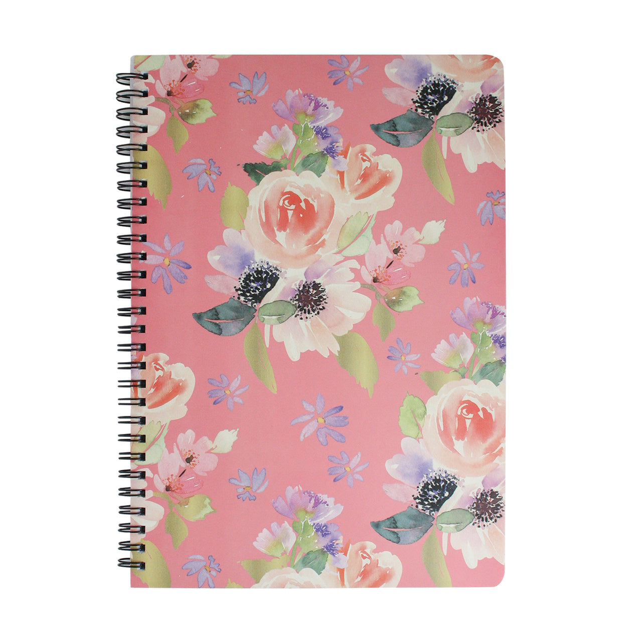B5 Floral Notebook - Hot Pink