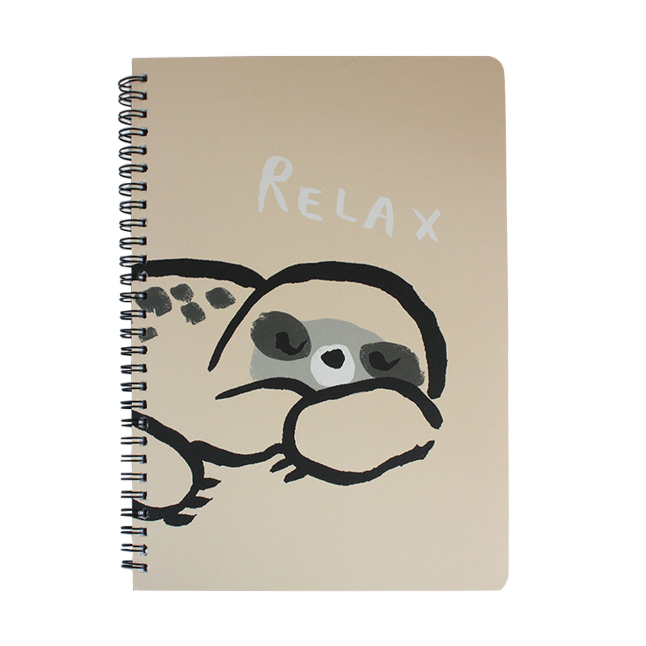B5 Cartoon Animal Notebook - Cream Sloth