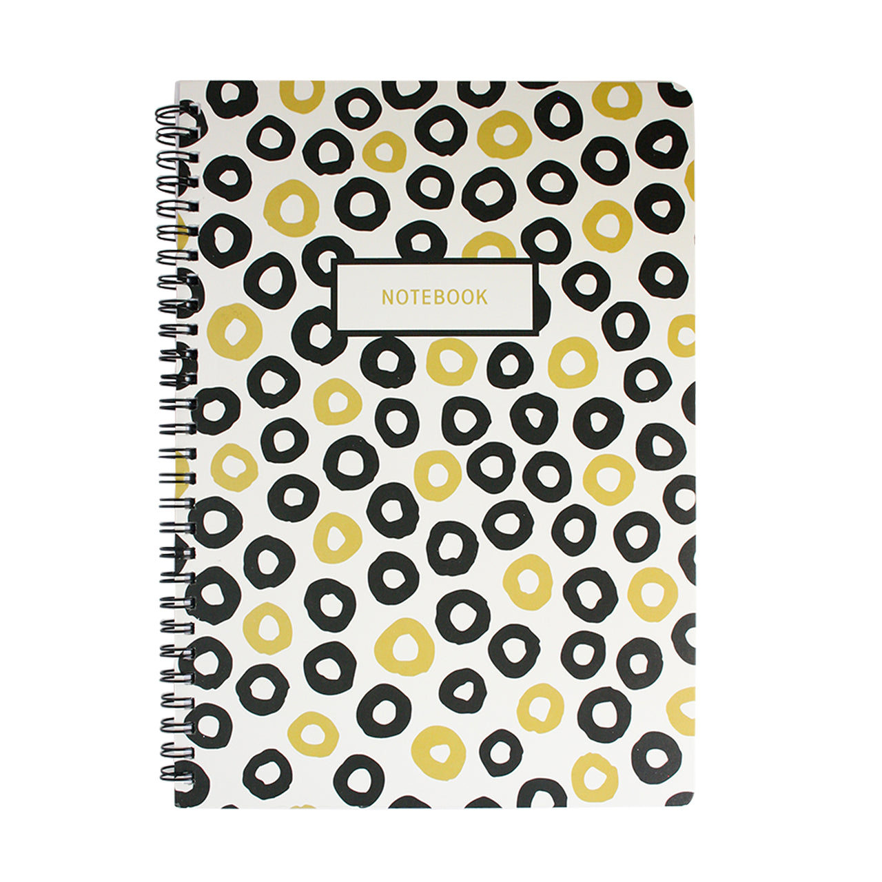 B5 Black & Gold Doodle Notebook - Circles