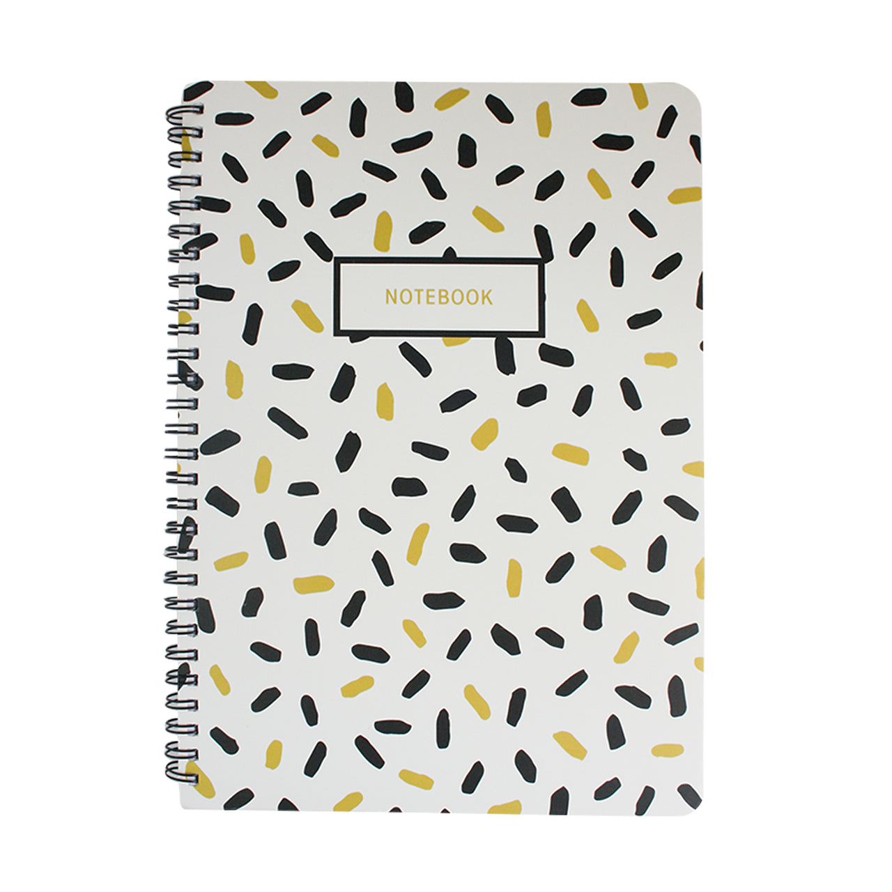 B5 Black & Gold Doodle Notebook - Dashes