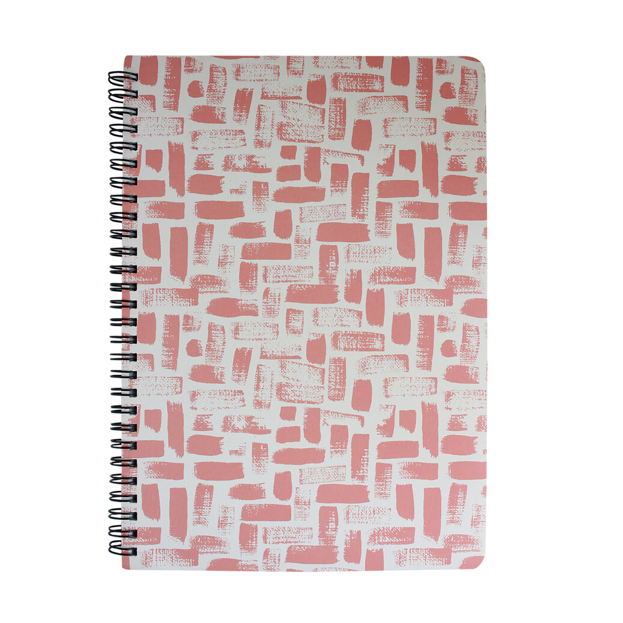 B5 Printed Notebook - Pink / White