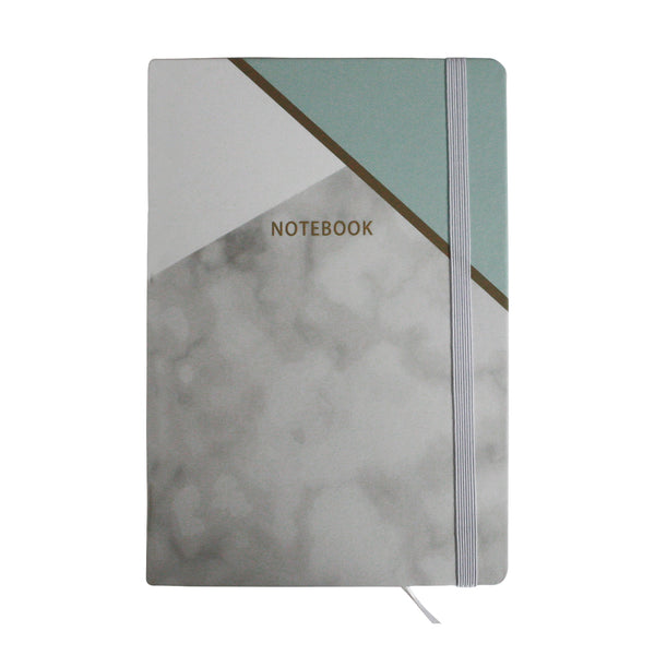 A5 Marble Effect Notebook - Green - EMARTBUY