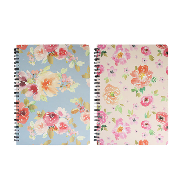 A5 Floral Notebook - Set of 2
