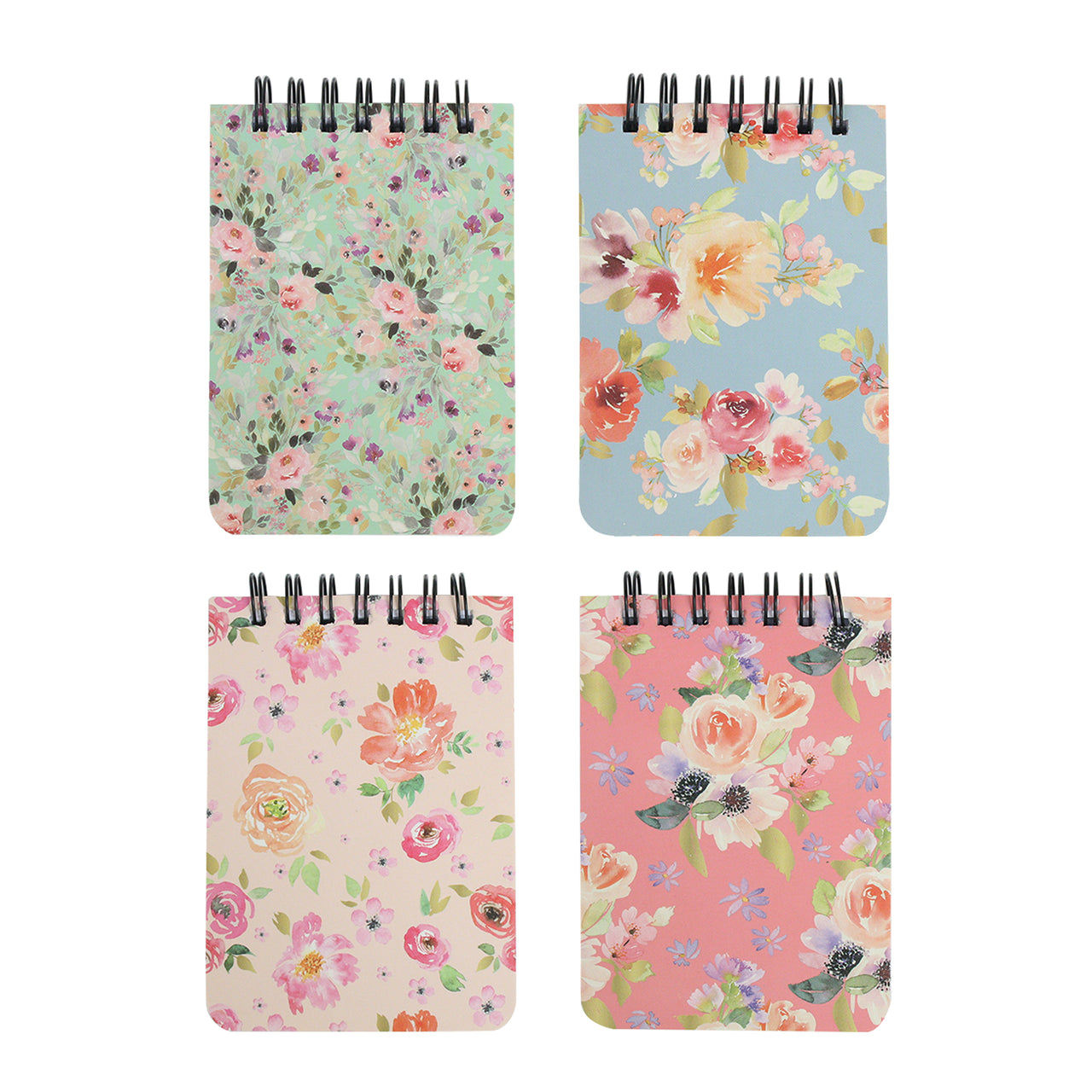 A7 Floral Notebook - Set of 4